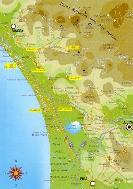 cartina della versilia