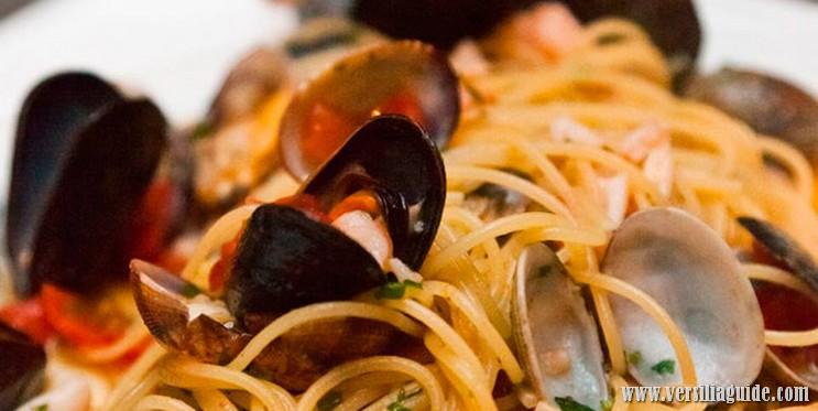 Spaghettino scoglio ristoranti versilia