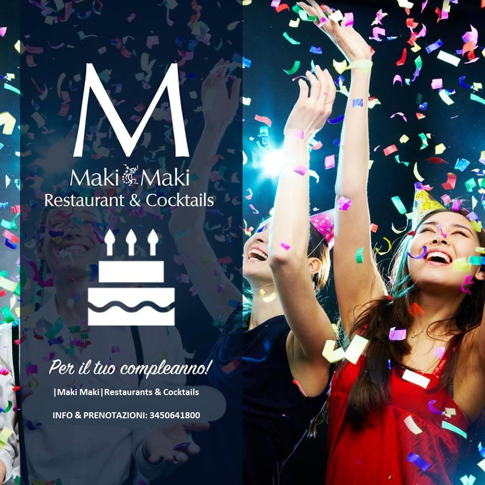 compleanno al maki maki