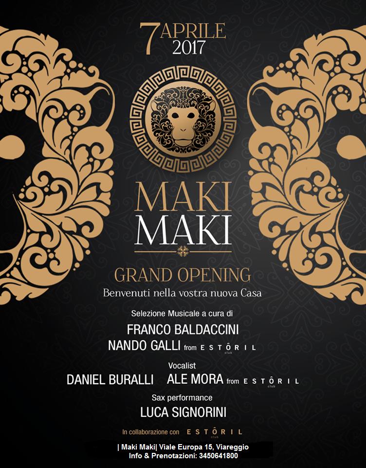 Inaugurzione nuovo Maki Maki Viareggio