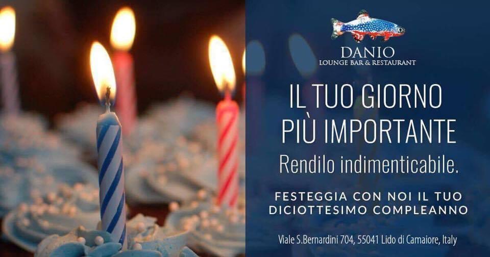 Danio Festeggiare compleanno