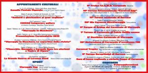 Programma Carnevale viareggio 2015